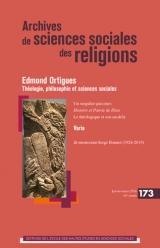 Archives de sciences sociales des religions, n°173