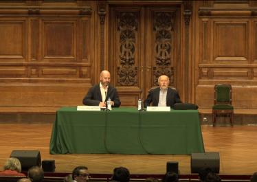 """40ème Conférence Marc Bloch. Giacomo Todeschini """"Au ciel de la richesse. Le cœur théologique caché du rationnel économique occidental """"."""