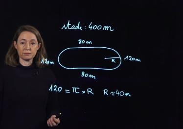 """Image de la vidéo """"Courir avec les maths"""" réalisée avec le lightboard de l'EHESS"""