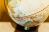 "Photo d'un globe terrestre de type ""map monde"""